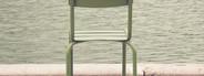 Chair beside lake