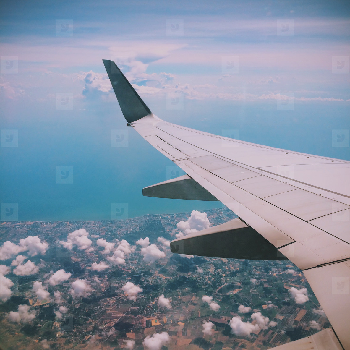 Beautiful view from an airplane