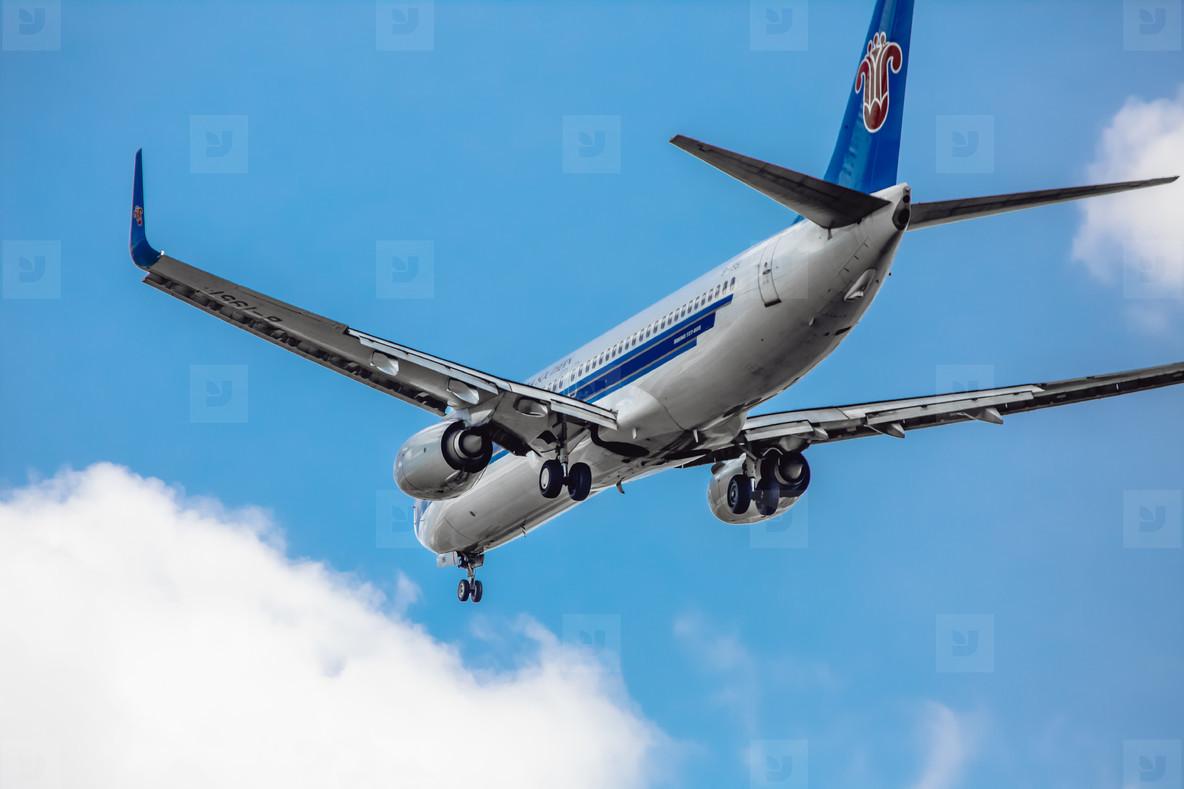 Airplane Landing Closeup