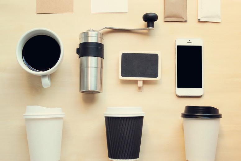 Coffee branding identity mock up