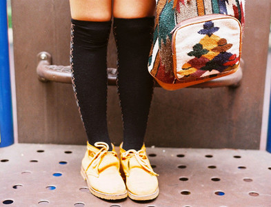 Asian Girl with shoes and bag