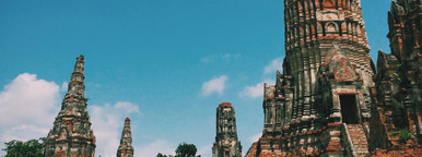 Temple at Ayutthaya  Thailand