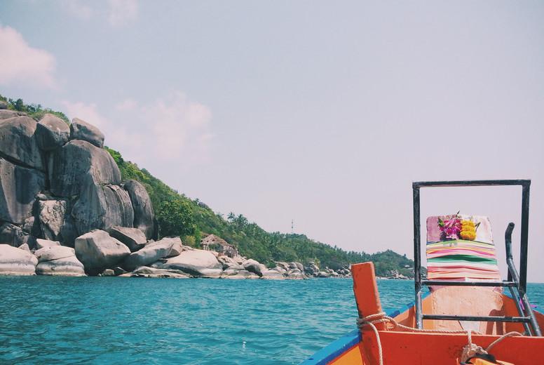Longtail Boat on Koh Tao