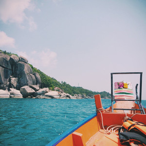 Longtail Boat on Koh Tao