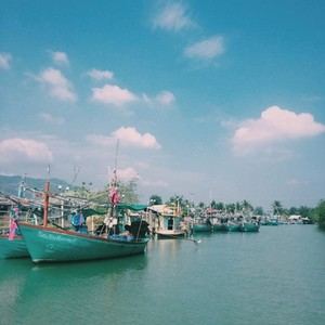 Colorful Boats on the river
