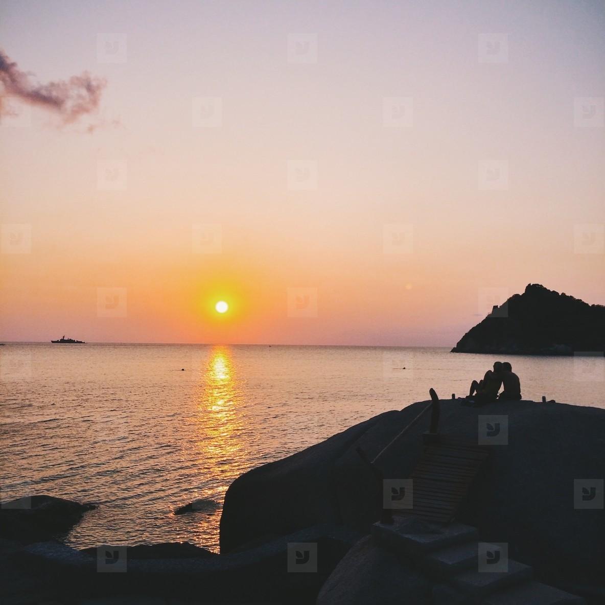 Sunset at Koh Tao  Thailand