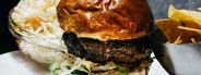 Closeup of a Beef Burger