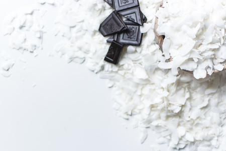 Chocolate bar and coconut chips