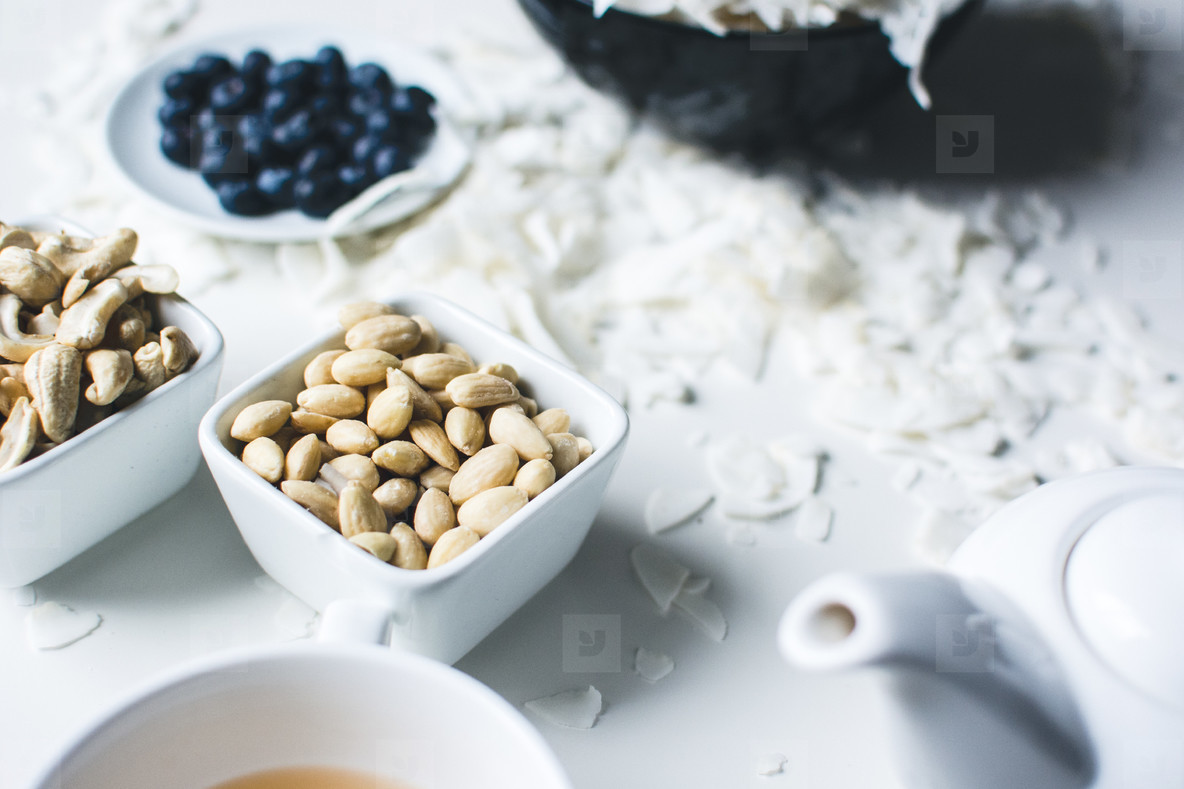 Tea Time with nuts and fruits