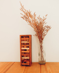 Blocks wooden jenga game