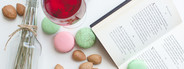 Macarons Almonds with open book