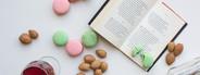 Macarons  almonds  juice  book