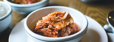 Closeup Kimchi  Korean Food