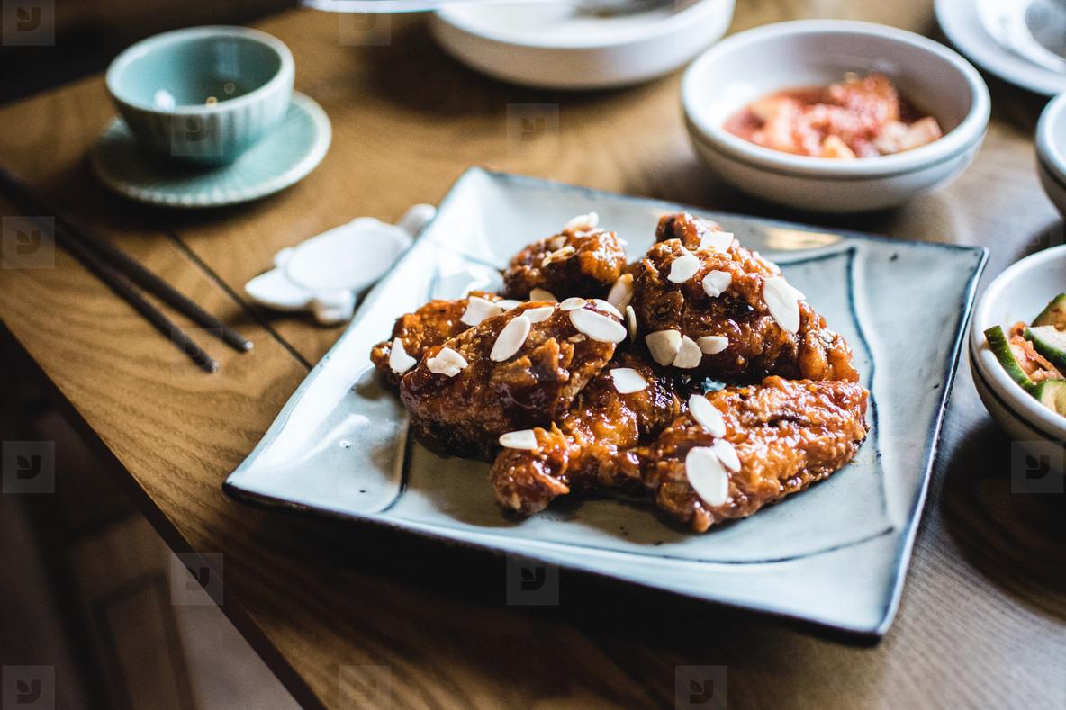 Korean Fried Chicken  Kimchi