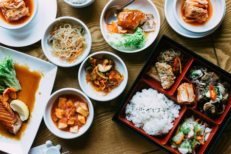 Korean Food on table