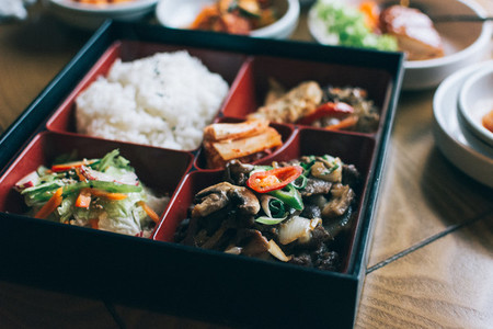 Box of Korean food
