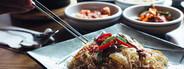 Closeup noodles  Korean Food