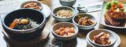 Korean Food on wooden table
