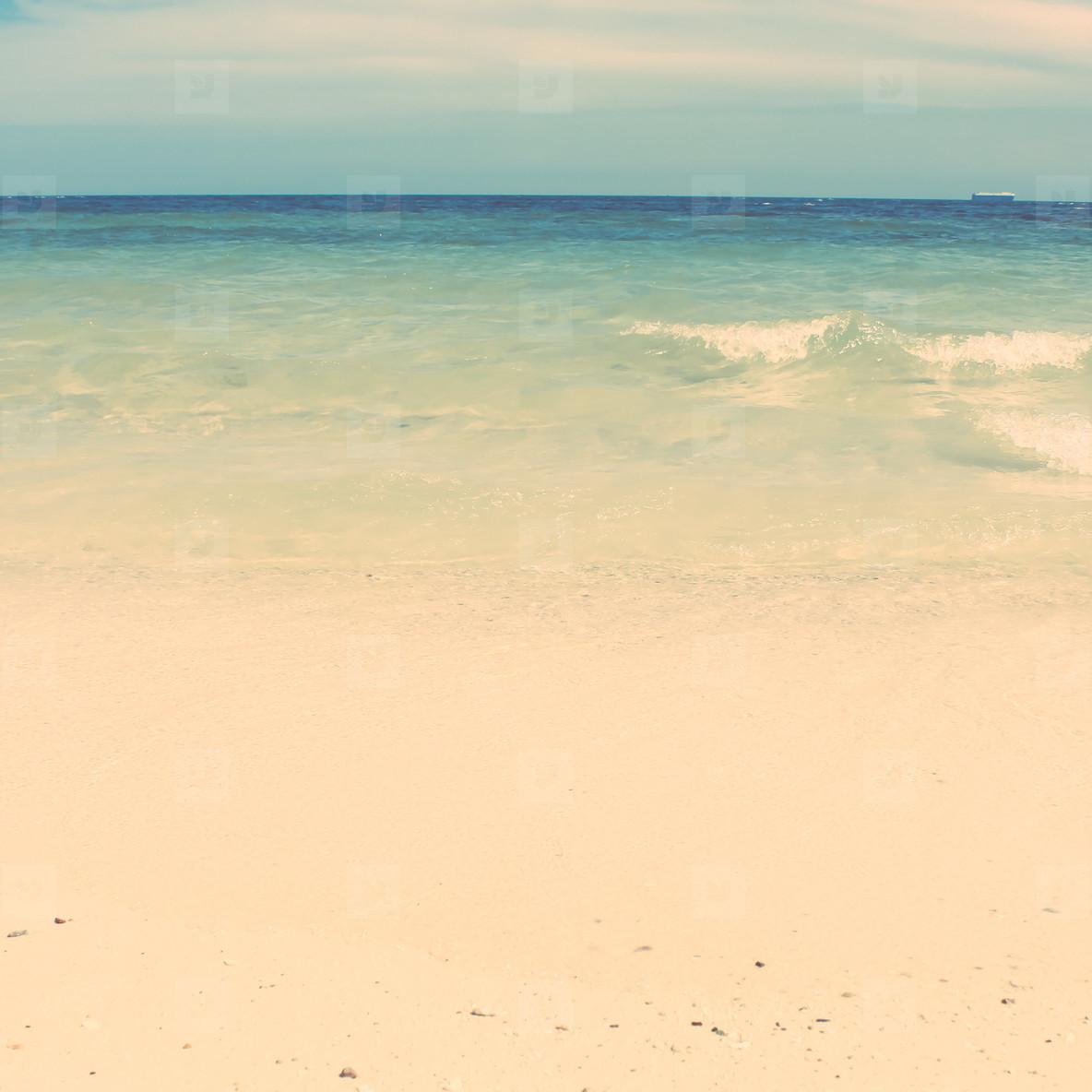 vintage style of  summer beach