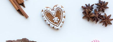 Gingerbread heart cookie