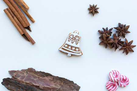 Gingerbread bell cookie