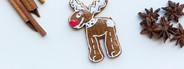 Gingerbread reindeer cookie
