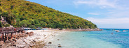 Landscape of summer beach sea