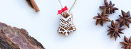 Gingerbread Tree cookie over
