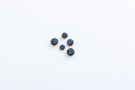 Blueberries  White background