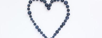 Blueberries  White background