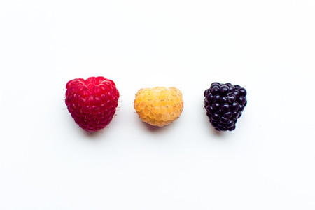 Various type of berry fruits iso