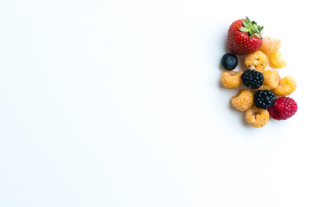 Mix berries isolated