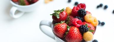 Closeup Berries in cups