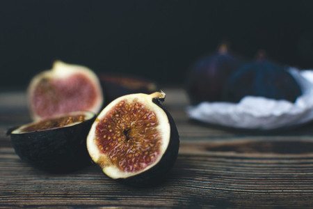 Ripe Fig fruits isolated