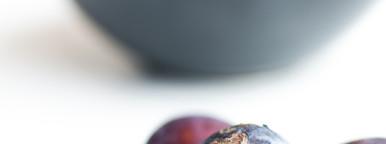 Closeup  black grape isolated