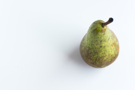 Green Pear on white background