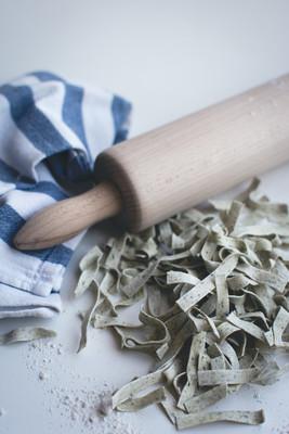 Homemade spinach tagliatelle  6
