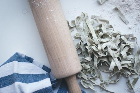 Homemade spinach tagliatelle 7