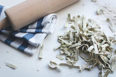 Homemade spinach tagliatelle 11