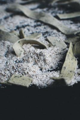 Homemade spinach tagliatelle  12