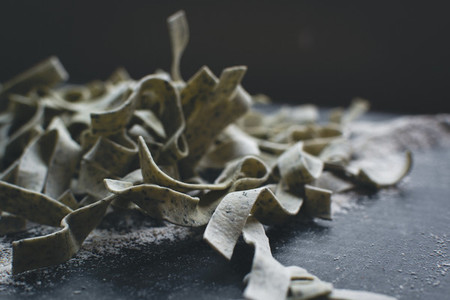 Homemade spinach tagliatelle  14