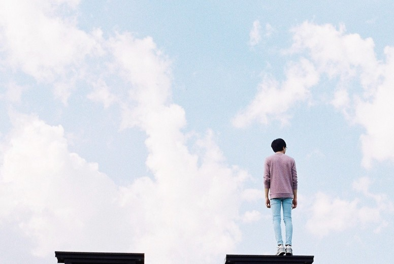 Young Man with blue sky