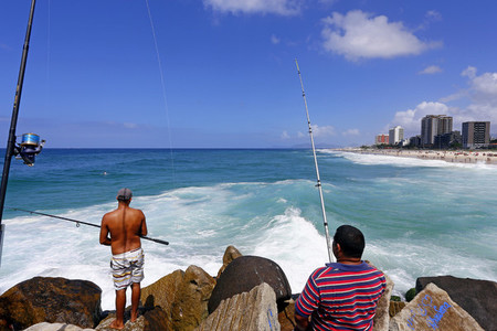 Fishing at Pepe Beach