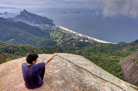 View of Sao Conrado Beach