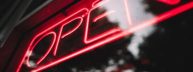 Open Sign in Neon