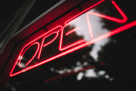 Open Sign in Neon