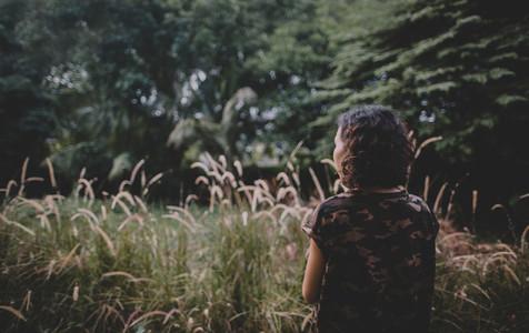 Woman in Garden