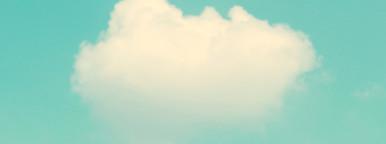 Retro cloud and sky