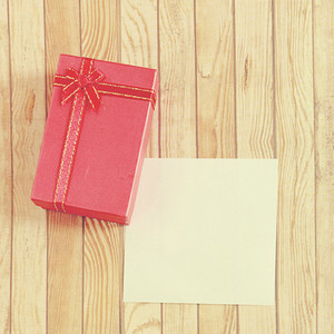 present box with blank note