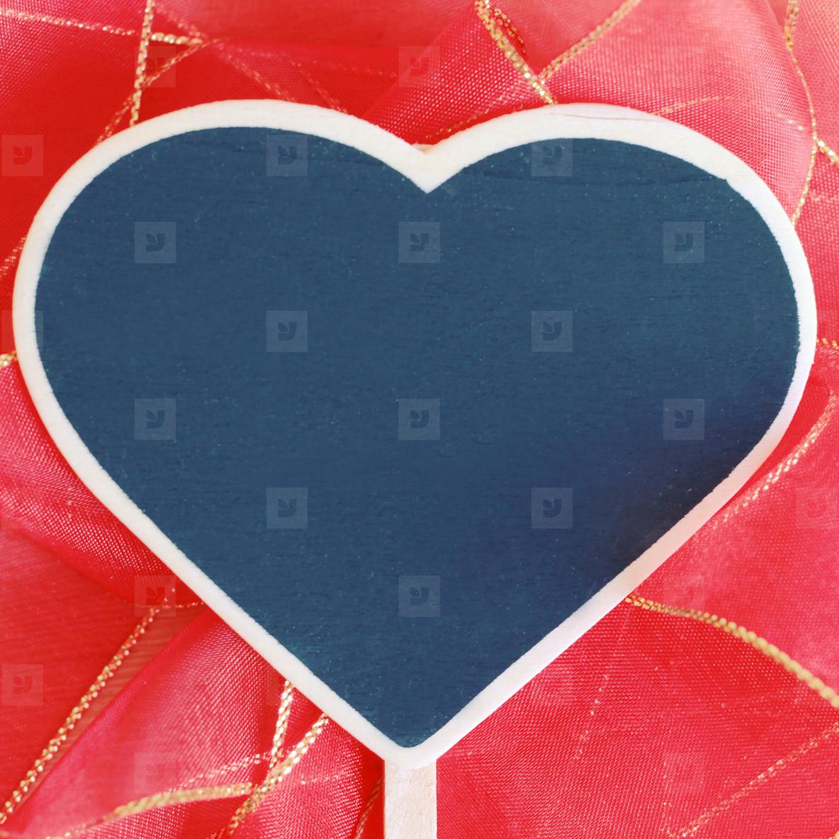 Heart shaped blackboard